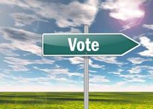 Wegweiser-Abstimmung lizenzfreie abbildung