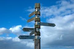 Wegweiser auf Leuchtturm an Kap der guten Hoffnung Lizenzfreies Stockbild