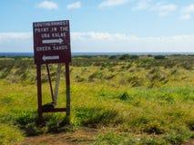 Wegweiser für südlichsten Punkt in Vereinigten Staaten Lizenzfreie Stockbilder
