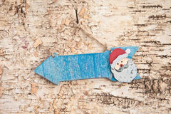 Wegweiser zu Santa Claus Stockbild