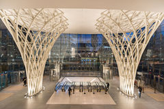 Wegzugeingang vom Weltfinanzzentrum Lizenzfreie Stockfotografie