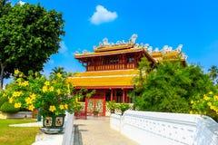 Wehart Chamrunt宫殿在轰隆痛苦宫殿,阿尤特拉利夫雷斯,泰国 图库摄影