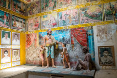 Weherahena buddistisk tempel, Sri Lanka Arkivbilder