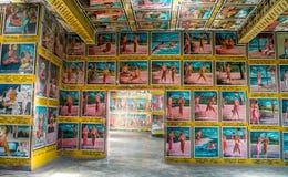 Weherahena buddistisk tempel, Sri Lanka Royaltyfri Foto