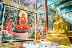 Weherahena buddistisk tempel, Sri Lanka Arkivfoton