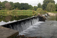 Wehr's Dam. The Wehr Dam in South Whitehall Pennsylvania Stock Photo