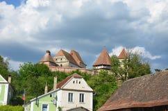 Wehrkirche Alma Vii, Transilvania, Rumänien stockbild