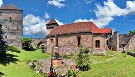Wehrkirche von Calnic, Rumänien stockfotos