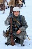 Wehrmacht żołnierz po bitwy Obraz Royalty Free