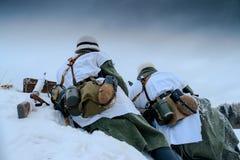 Wehrmacht machine-gun crew. Stock Photos