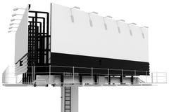 Weiß 3d bilboard Stockfoto