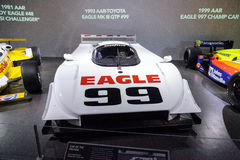 Weiß Aare-Toyota 1993 Eagle M III GTP Nr. 99 Lizenzfreie Stockfotos