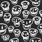 Weiß auf schwarzem Schädel-Muster Lizenzfreie Stockfotos