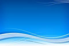 Weiß bewegt auf Blau wellenartig Stockbilder