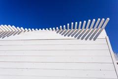 Weiß-blaue hölzerne Zusammenfassung Lizenzfreie Stockbilder