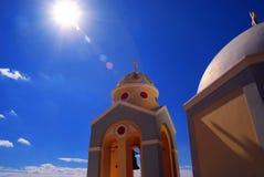 Weiß-blaues Santorini, Griechenland Lizenzfreies Stockfoto