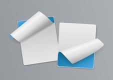 Weiß 3d und Blue Note -Papier-Hintergrund Lizenzfreies Stockbild