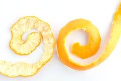 Weiß der orange Schale Stockfotos