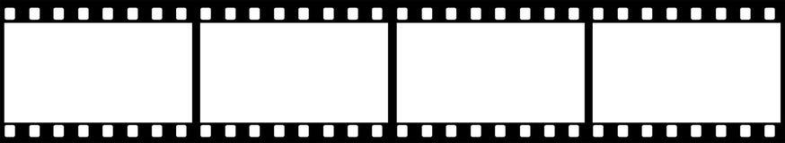 Weiß des freien Raumes im schwarzen Filmrahmen stockbild