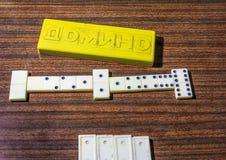 Weiß entbeint Dominospiel Lizenzfreies Stockfoto