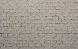 Weiß farbige Backsteinmauer Lizenzfreie Stockfotografie