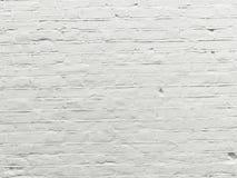 Weiß gemalte Backsteinmauer - Archivbild Lizenzfreie Stockfotos