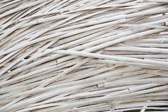 Weiß gemalte Bambuswebart lizenzfreies stockfoto