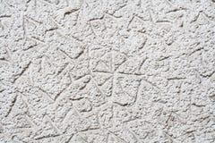 Weiß gemalte strukturierte Wand Stockfotos