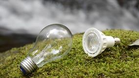Weiß glühend und LED stock video