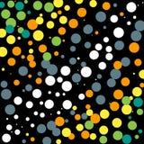 Weiß-Grau-Gelb-grüner Dots Background vektor abbildung