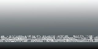 Weiß-grauer abstrakter Hintergrund Lizenzfreie Stockfotos