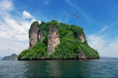 Insel im Andomansky Meer Stockfotos