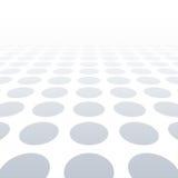 Weiß punktierter Hintergrund der Visionsperspektive Auch im corel abgehobenen Betrag Stockfotos