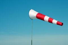 Weiß-roter Windsock Stockfoto