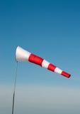 Weiß-roter Windsock Lizenzfreies Stockfoto