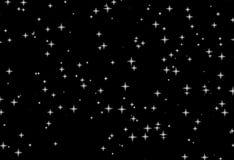 Weiß stars schwarze Nacht lizenzfreie abbildung