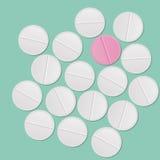 Weiß tablets Hintergrund Stockfoto