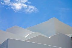 Weiß und Blau Lizenzfreies Stockfoto