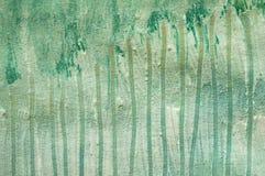 Weiß- und Grünkratzermalerei Stockfotos