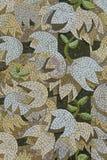 Weiß und Lavendar Flower Mosaic stockbild