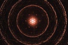 Weiß und rotes Stern Licht zeigen, farbiger Laser, heller Tunnel der Unendlichkeit an Lizenzfreie Stockfotos