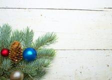 Weiß verwittertes Weihnachten Stockbild
