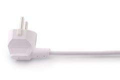 Weiß 220-Volt-Energieverbindungsstück (Beschneidungspfad) Lizenzfreie Stockfotografie