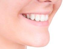 Weiß werdene Zähne. Zahnpflege Lizenzfreie Stockbilder