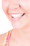 Weiß werdene Zähne. Zahnpflege Lizenzfreie Stockfotos