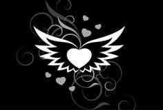 Weiß Wings Hintergrund Lizenzfreies Stockfoto
