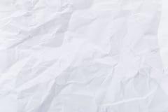 Weiß zerknittert Papier lizenzfreie stockfotos