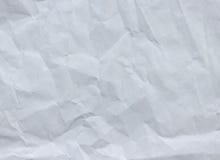 Weiß zerknitterte Papierhintergrundbeschaffenheit Stockbilder