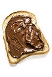 Weißbrot mit Nutella Lizenzfreies Stockfoto