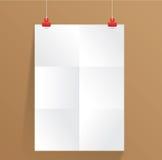 Weißbuch auf Wand Stockfotografie